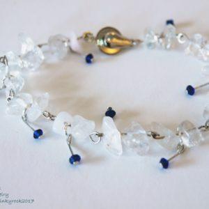 水元素寶石幸運飾~晶透白水晶手環