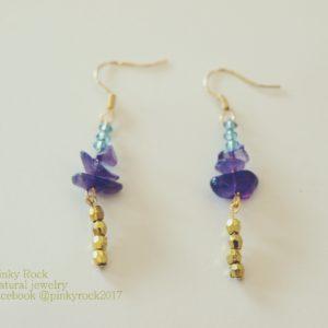 夢元素寶石幸運飾~紫金耳環